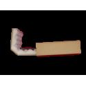 Noppenschaumschiebeschachtel 130x100x30mm mit 15mm Noppen - 2-teilig Quick-Pack