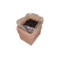 Seitenfaltensäcke 1250+850 x 1950mm 75my transluzent HONIGFARBEN f. Gitterboxen