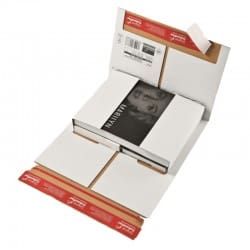 Colompac CP035.54 - 350x260x0-70 mm Flexible Universalversandverpackung mit zusätzlichem Selbstklebeverschluss in weiss