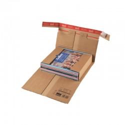 Colompac CP030.04 - 325x260x0-92 mm robuste Versandverpackung mit Sicherungslasche DIN C4