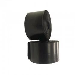100my Schlauchfolie schwarz 400mm x 0,10 mm x 250 m