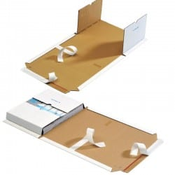 MW54 Buchverpackungen WEISS - 245x165x20-70mm - DIN A5-plus