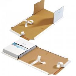 MW56 Buchverpackungen WEISS - 270x185x20-60mm - DIN-B5