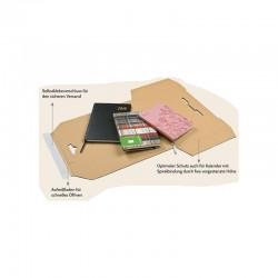 KP140 - Kalenderverpackung 602x428x10mm DIN A2 Kalenderpac braun