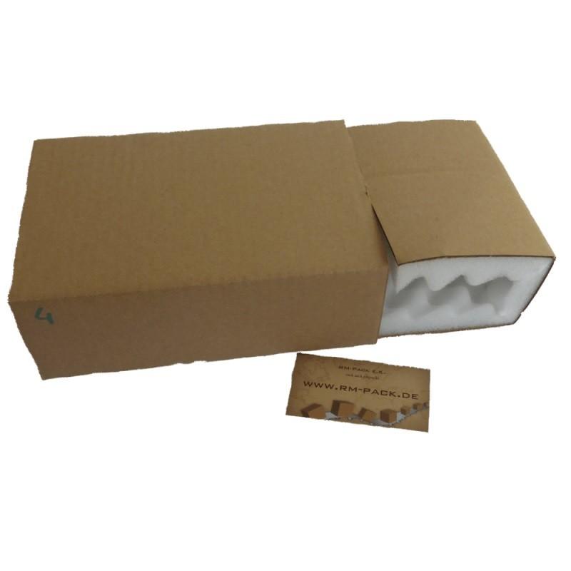 Noppenschaumkarton 210x140x65mm mit 25mm Noppen - 2-teilig Quick-Pack