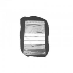 Druckverschlussbeutel 80x120mm 90my mit Beschriftungsfeld