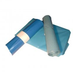 Müllsäcke 700x1100mm blau 100my  ca. 120 Liter