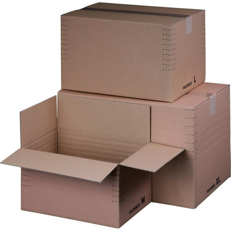 Blitzbodenkarton 230x165x50-115mm mit Automatikboden